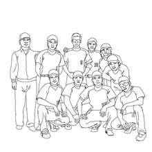 Baseball Team zum Ausmalen