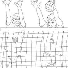 Volleyball Verteidigung zum Ausmalen