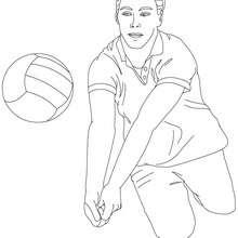 Volleyball Spieler baggert zum Ausmalen