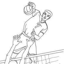 Volleyball schneller Angriff zum Ausmalen