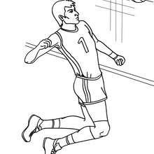 Volleyball schneller Schlag zum Ausmalen