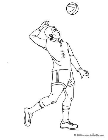 Indumentaria del voleibol dibujo
