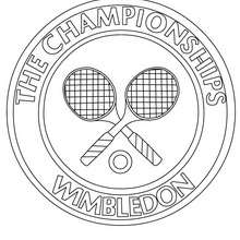 Wimbledon Championships zum Ausmalen