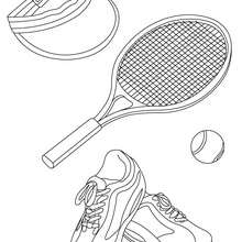 Tennis Ausrüstung zum Ausmalen