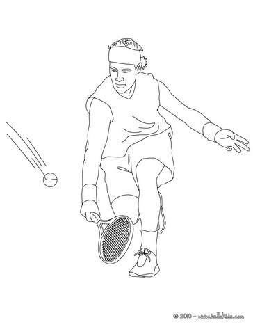 ausmalbilder tennis