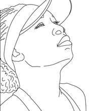 Venus Williams Nahaufnahme zum Ausmalen