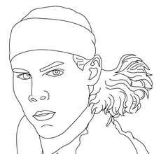 Rafael Nadal Nahaufnahme zum Ausmalen