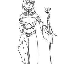 Aztekische Prinzessin zum Ausmalen