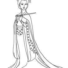 Chinesische Prinzessin zum Ausmalen
