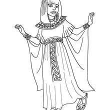 Ägyptische Prinzessin zum Ausmalen