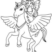 Fee und Pegasus zum Ausmalen