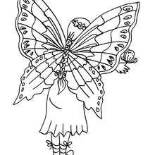 Feenflügel zum Ausmalen