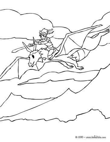 Drachen Und Ritter Zum Ausmalen Ausmalbilder Ausmalbilder