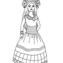 Inka Prinzessin zum Ausmalen