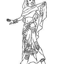 Indische Prinzessin zum Ausmalen