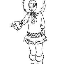 Inuit Prinzessin Bild zum Ausmalen