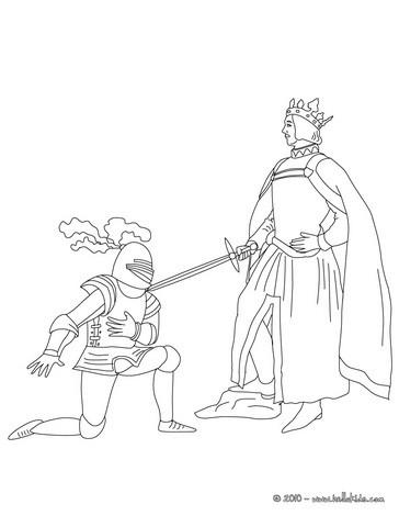 Ritter Und Prinzessin Zum Ausmalen Zum Ausmalen De Hellokids Com