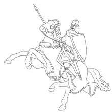 Ritter auf einem Pferd zum Ausmalen