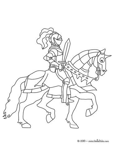Ritter Mit Schwert Auf Einem Pferd Zum Ausmalen Zum Ausmalen De