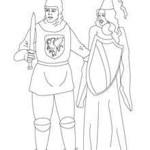 Ritter und Prinzessin zum Ausmalen