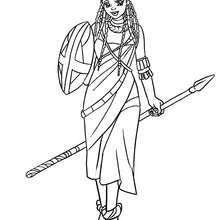 Massai Prinzessin zum Ausmalen
