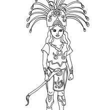 Maya Prinzessin zum Ausmalen