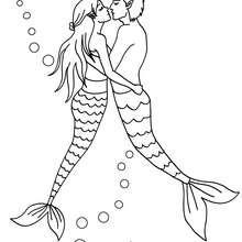 Meerjungfrauen zum Ausmalen