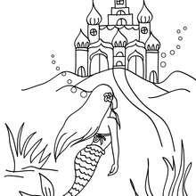 Das Reich der Meerjungfrau zum Ausmalen