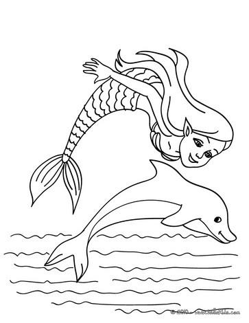 Meerjungfrau und Meerestiere zum Ausmalen - Ausmalbilder ...