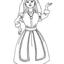 Marokkanische Prinzessin zum Ausmalen
