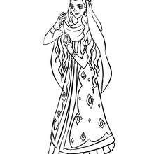 Marokkanische Prinzessin tanzt zum Ausmalen