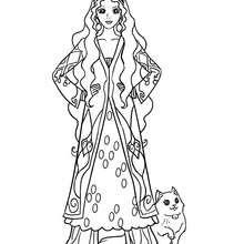 Persische Prinzessin zum Ausmalen