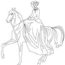 Prinzessin reitet zum Ausmalen