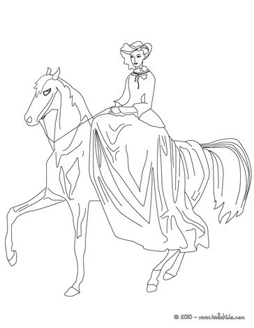 Prinzessin reitet zum ausmalen zum ausmalen - Princesse cheval ...