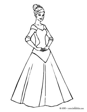 Prinzessinen Kleid Zum Ausmalen Ausmalbilder Ausmalbilder