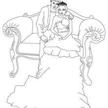 Prinz und Prinzessin zum Ausmalen