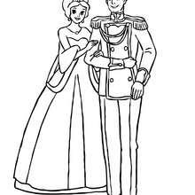 Prinzenpärchen zum Ausmalen