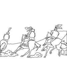 Ritterrennen zum Ausmalen