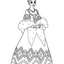 Russische Prinzessin zum Ausmalen