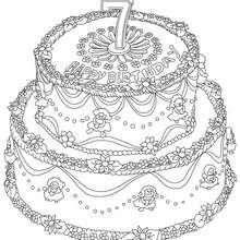 Geburtstagskuchen 7 Jahre zum Ausmalen