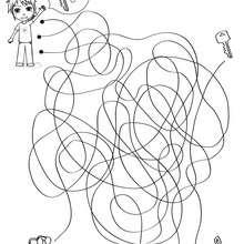 FINDE DEN SCHLÜSSEL Labyrinth zum Ausdrucken