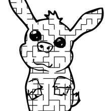 HAUSTIER lustiges Labyrinth zum Ausdrucken