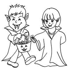 Vampir Kostüme zum Ausmalen