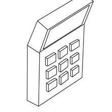 Ein Taschenrechner zum Ausmalen