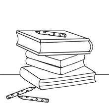 Ein Stapel Bücher zum Ausmalen