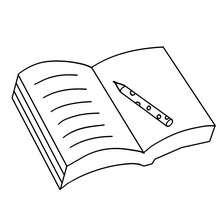 Offenes Buch zum Ausmalen