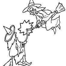 Hexenkampf zum Ausmalen