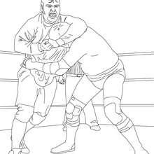 Wrestling Kampfszene zum Ausmalen