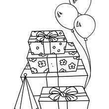 Geburtstagsgeschenke zum Ausmalen