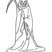 Die Figur des Todes zum Ausmalen